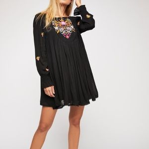 Free People Moya Mojave Embroidered Peasant Dress